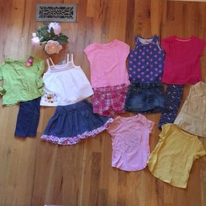 Bundle of awesome 2t tops, skirts, pants, etc